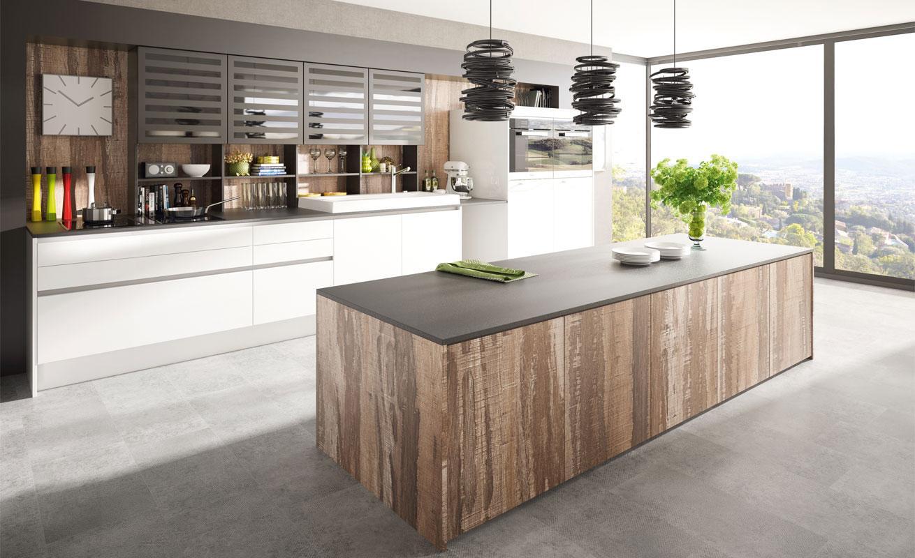studioHR, DanKuchen Silbermond, kuhinje sa otokom, kuhinja bijele boje visokog sjaja, galerija 01