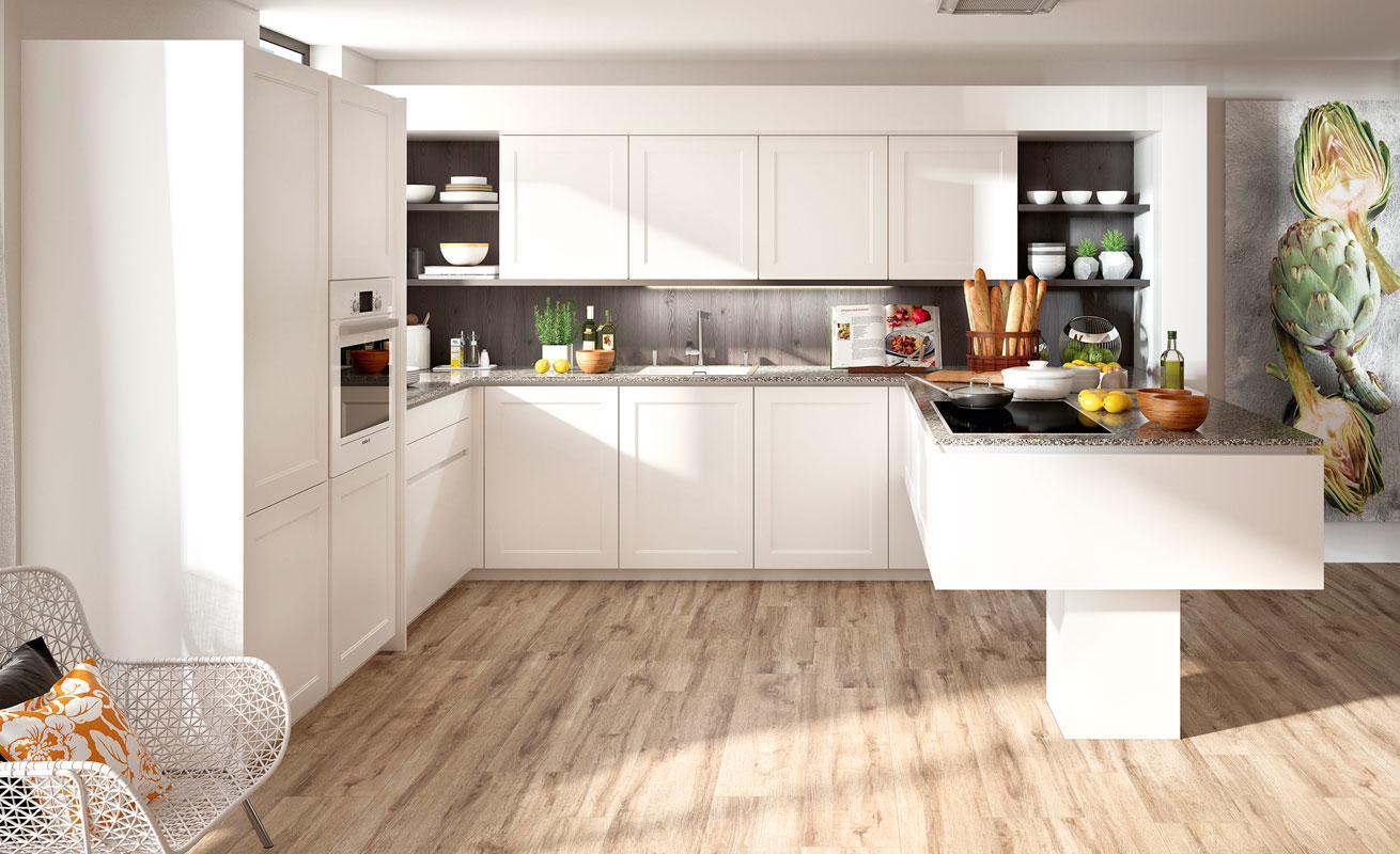 DanKuchen LionClassic kuhinja mat bijele boje rustikalnog dizajna