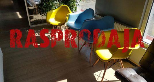 Rasprodaja DAW stolice oker žute i plave boje