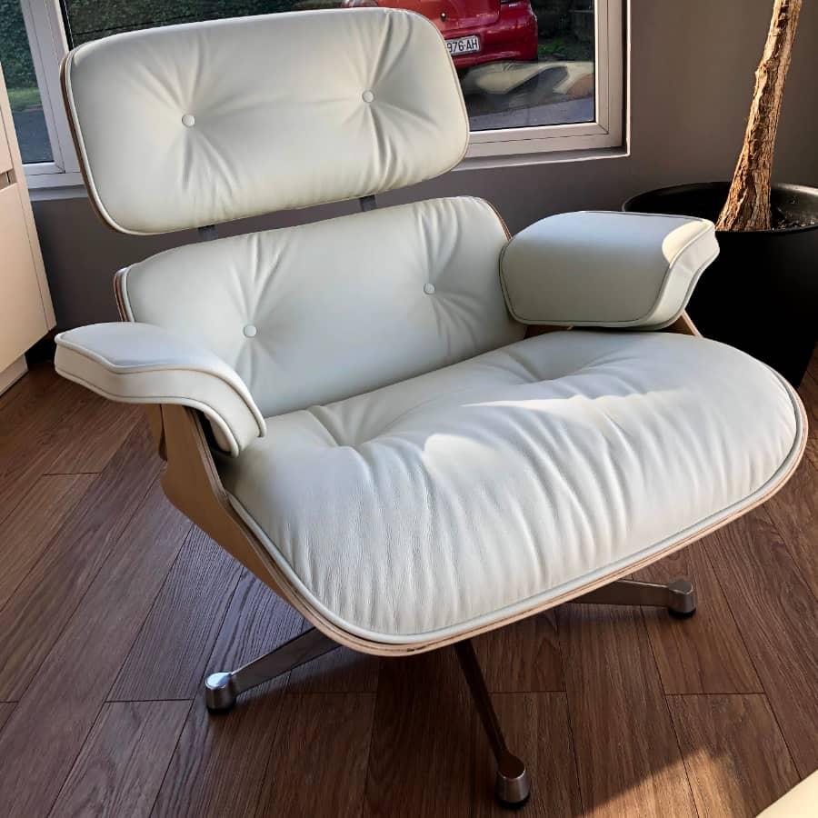 inside studio Lounge Chair bijela, hrast