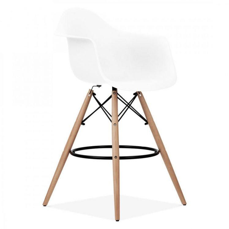 studioHR, DAW barska stolca bijele boje, slika 02