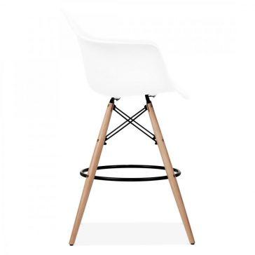 studioHR, DAW barska stolca bijele boje, slika 03