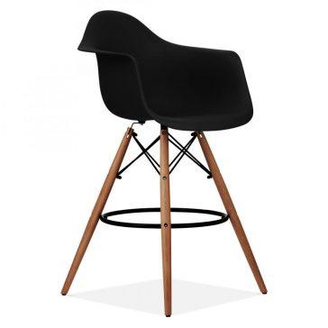 studioHR, DAW barska stolca crne boje, slika 02
