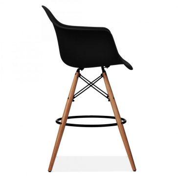 studioHR, DAW barska stolca crne boje, slika 03
