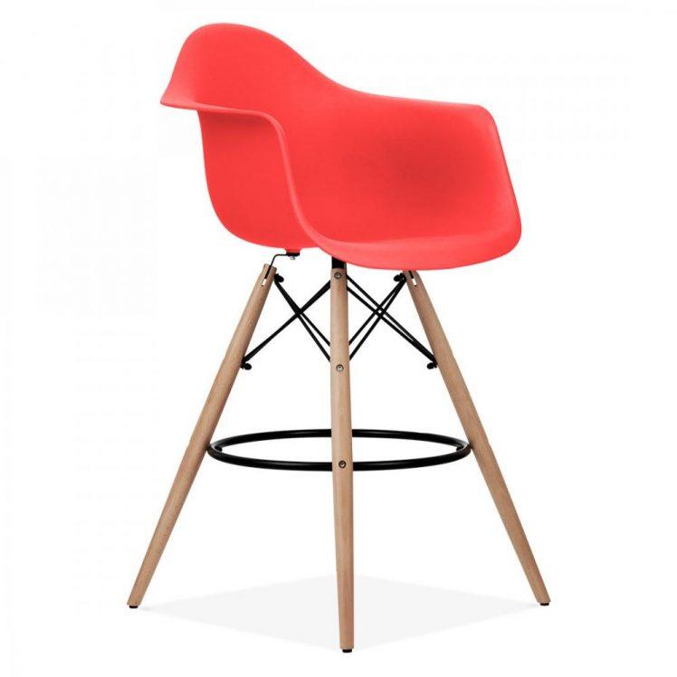 studioHR, DAW barska stolca crvene boje, slika 02