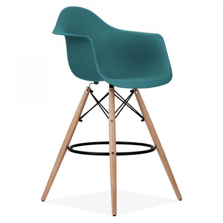 studioHR, DAW barska stolca petrolej zelene boje, slika 02