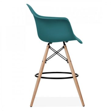 studioHR, DAW barska stolca petrolej zelene boje, slika 03