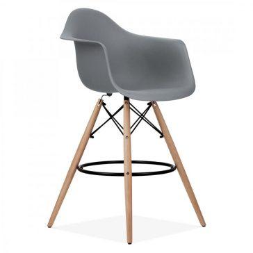 studioHR, DAW barska stolca sive boje, slika 02