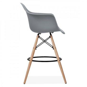 studioHR, DAW barska stolca sive boje, slika 03