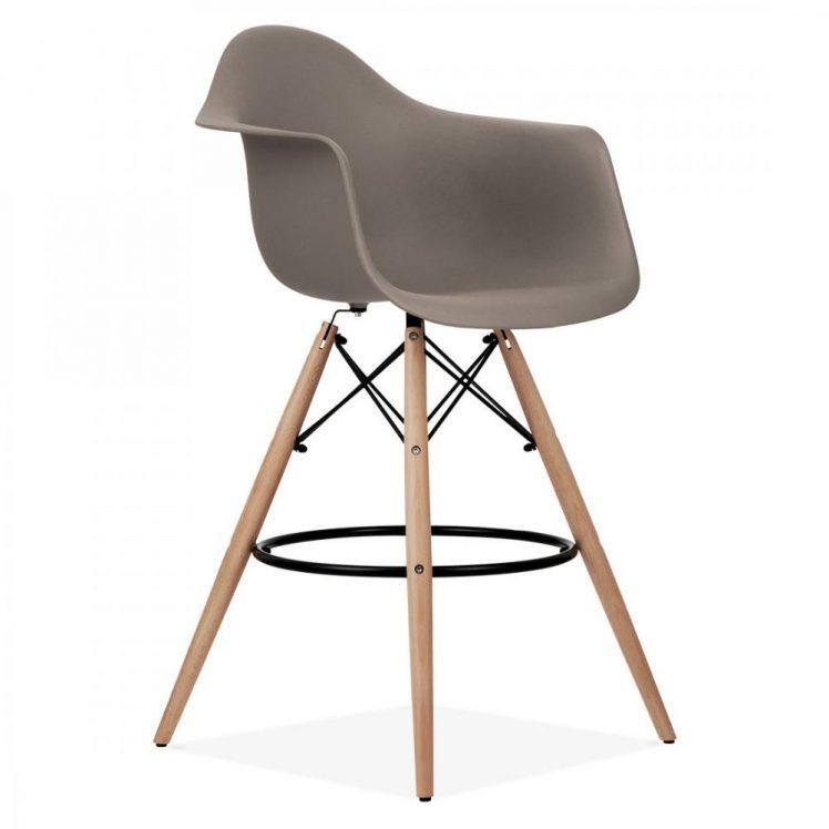 studioHR, DAW barska stolca sivo smeđe boje, slika 02