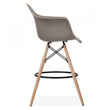 studioHR, DAW barska stolca sivo smeđe boje, slika 03