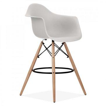 studioHR, DAW barska stolca svijetlo sive boje, slika 02