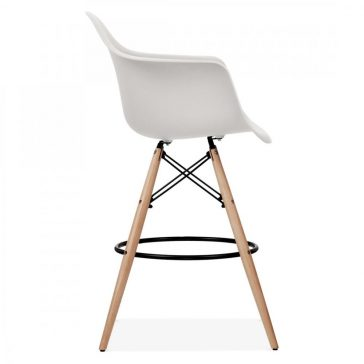 studioHR, DAW barska stolca svijetlo sive boje, slika 03