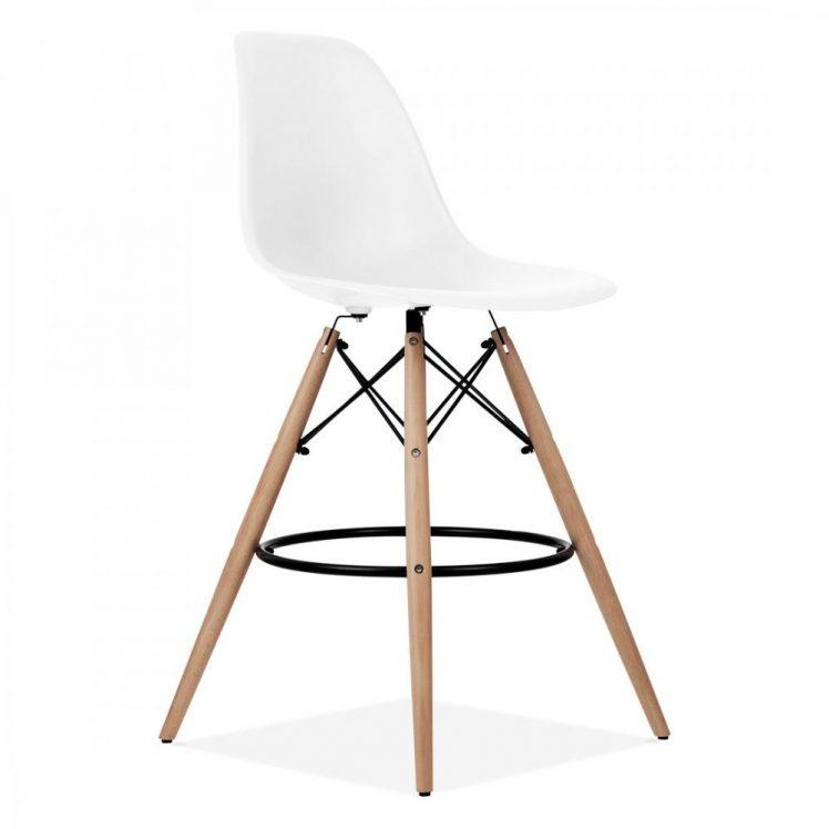 studioHR, DSW barska stolca bijele boje, slika 02