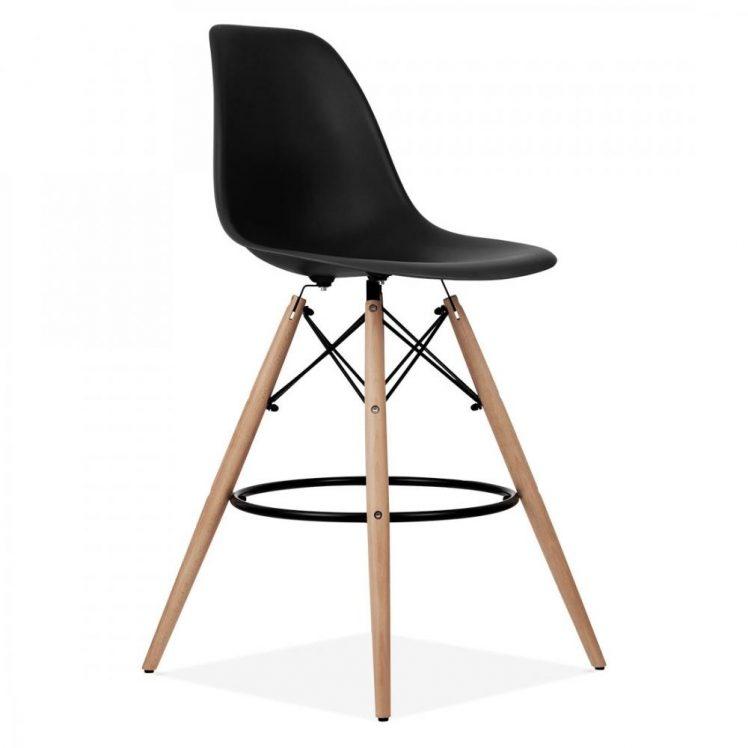 studioHR, DSW barska stolca crne boje, slika 02