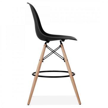 studioHR, DSW barska stolca crne boje, slika 03