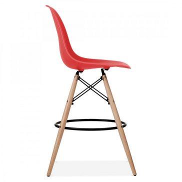 studioHR, DSW barska stolca crvene boje, slika 03