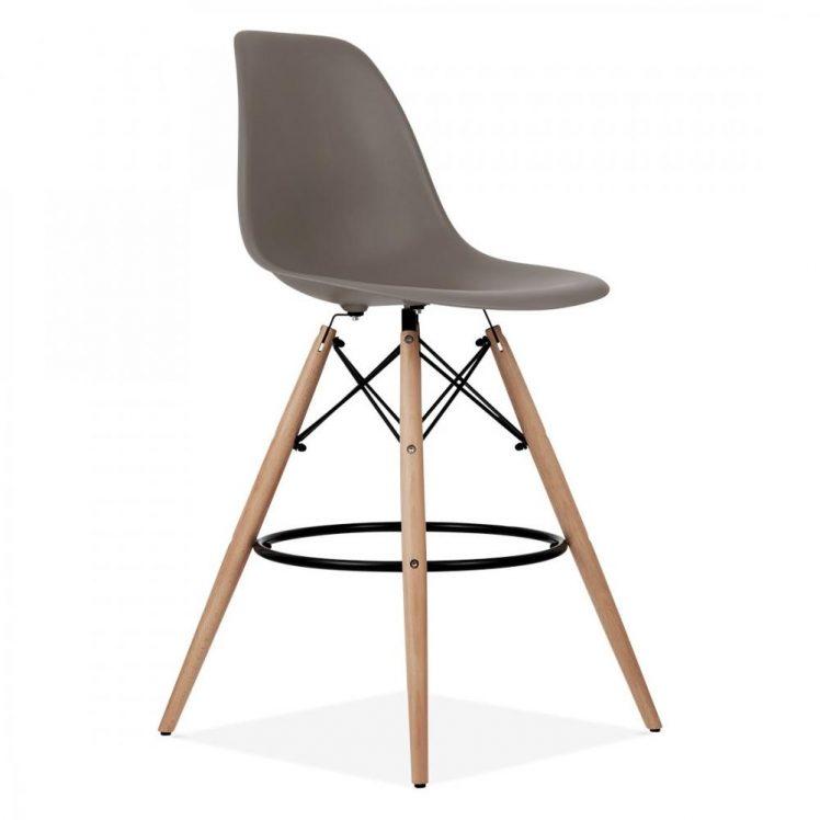 studioHR, DSW barska stolca sivo smeđe boje, slika 02