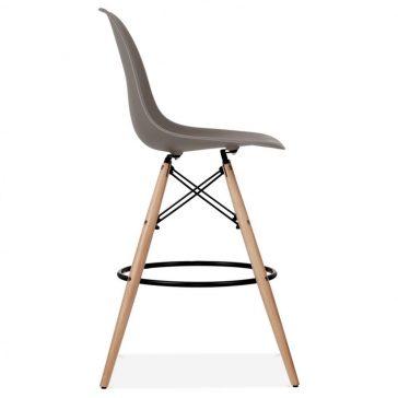 studioHR, DSW barska stolca sivo smeđe boje, slika 03