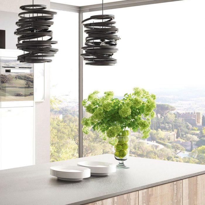 DanKuchen Silbermond kuhinja bijele boje visokog sjaja detalji