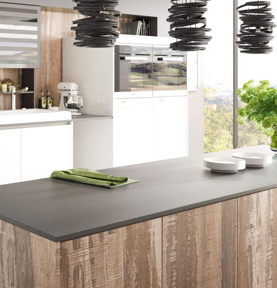 DanKuchen Silbermond kuhinja bijele boje visokog sjaja visoki elementi