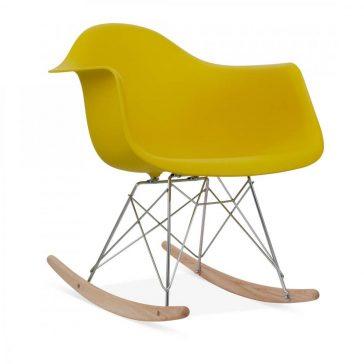 studioHR, RAR stolca za ljuljanje oker žute boje, slika 02