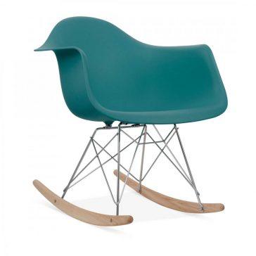 studioHR, RAR stolca za ljuljanje petrolej zelene boje, slika 02