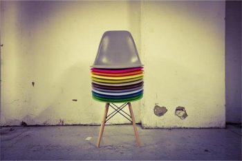 studio HR, stolice u boji