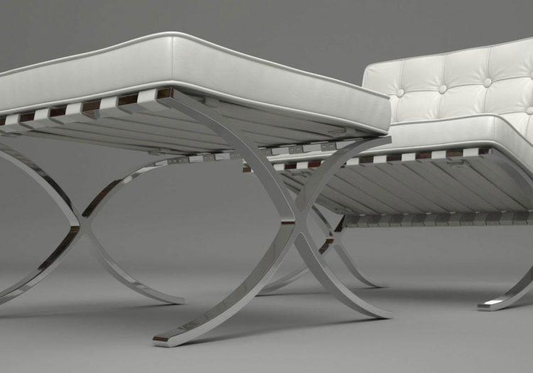 studioHR, Dizajnerske fotelje, Kožne fotelje, Barcelona Chair REPLIKA